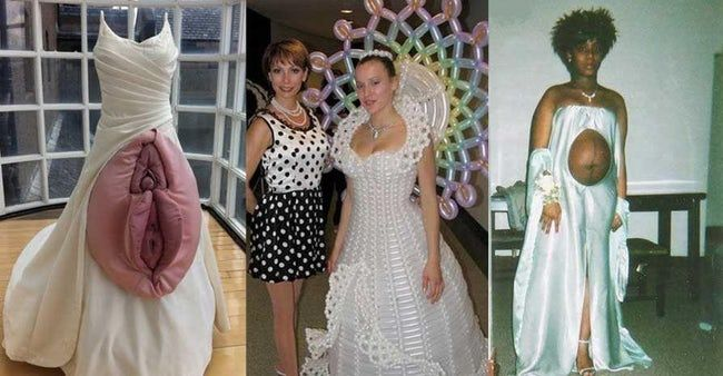 The Absolute Weirdest Wedding Dresses Ever