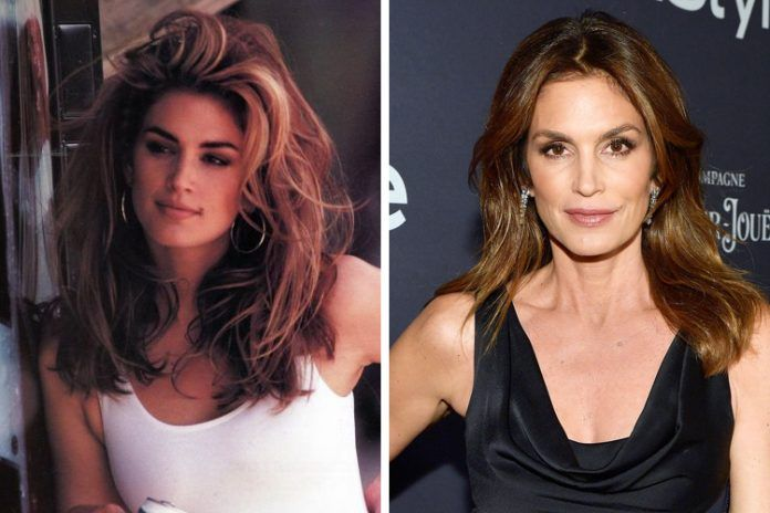 90s Supermodels then and now